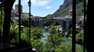 Le Vieux Pont de Mostar, le 8 mai 2020 en Bosnie-Herzégovine