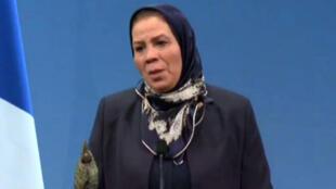 Latifa Ibn Ziaten, lauréate du prix de la fondation Chirac, le 19 novembre 2015.