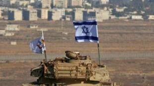 علم إسرائيلي يرفرف في منطقة الجولان المحتل 18 تشرين الأول/أكتوبر 2017.