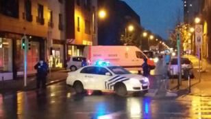 Des arrestations ont eu lieu samedi 14 novembre 2015 à Molenbeek, dans l'agglomération bruxelloise.