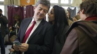 صوفيا شيكيرو برفقة جان لوك ميلنشون