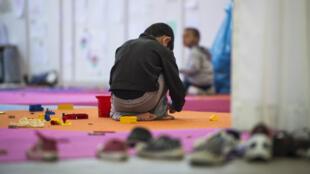 Des enfants réfugiés dans un foyer d'acceuil à Berlin.