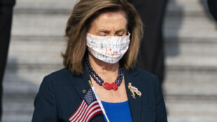 La líder de la Cámara de Representante Nancy Pelosi en Washington, el 11 de septiembre de 2020
