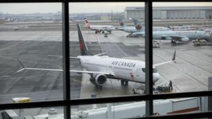 Foto de referencia. Avión de Air Canada en el Aeropuerto Internacional Toronto Pearson. 13 de marzo de 2019.