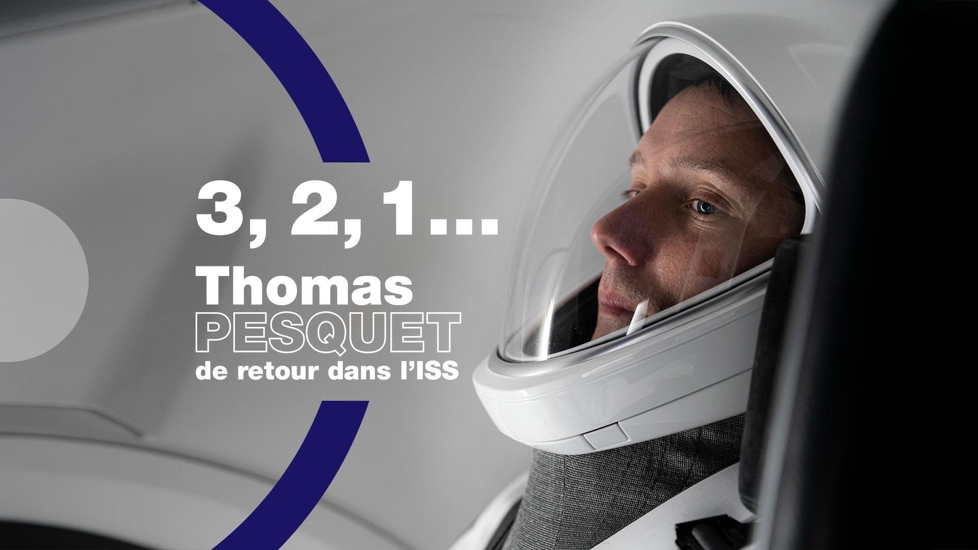 Le spationaute français Thomas Pesquet effectue, le 23 avril 2021, son deuxième voyage dans l'espace à bord de l'ISS pour la mission Alpha.