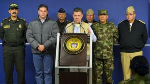 Le président colombien Santos annonce la suspension des pourparlers de paix, le 16 novembre