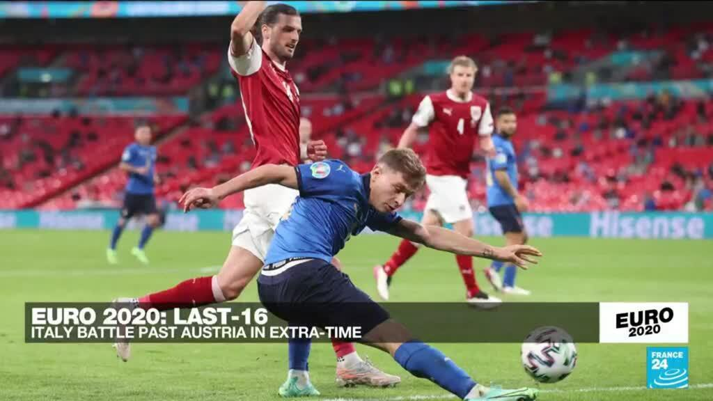 2021-06-26 23:45 Euro 2021: Italy beat Austria 2-1 with extra time goals
