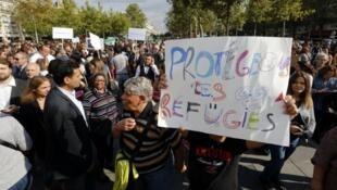 مظاهرة تضامن مع الاجئين في باريس، 5 أيلول/سبتمبر 2015