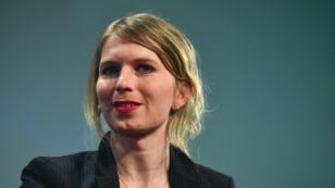 Chelsea Manning, le 2 mai 2018, lors d'une conférence à Berlin.