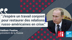 La réaction de Vladimir Poutine à l'élection de Donald Trump.