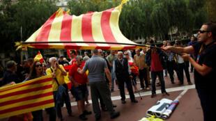 Ciudadanos se manifiestan en Cataluña