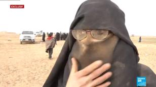 Cette jihadiste française souhaite rentrer en France, où elle a dit avoir été condamnée à de la prison.