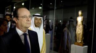 AFP | François Hollande lors de l'inauguration de l'exposition