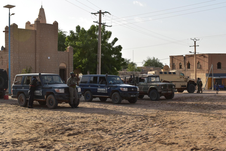 عربات للجيش المالي في تمبكتو شمال مالي بتاريخ 9 أيلول/سبتمبر 2021