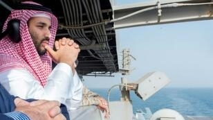 Saudi Crown Prince Mohammed bin Salman visits a US aircraft carrier in 2015 before becoming the heir to the kingdom's throne