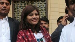 La candidata a senadora paquistaní de la casta de los intocables Krishna Kumari Kholi, el 3 de marzo de 2018 en Karachi.