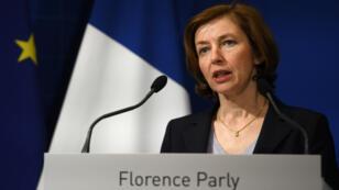 La ministre des Armées, Florence Parly, à Paris, en avril2018.