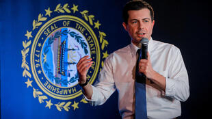 Democratic presidential candidate and former South Bend, Indiana mayor Pete Buttigieg speaks during a campaign stop in Portsmouth, New Hampshire, U.S., February 4, 2020.