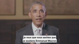Barack Obama apporte son soutien à Emmanuel Macron avant le 2nd tour de la présidentielle 2017.