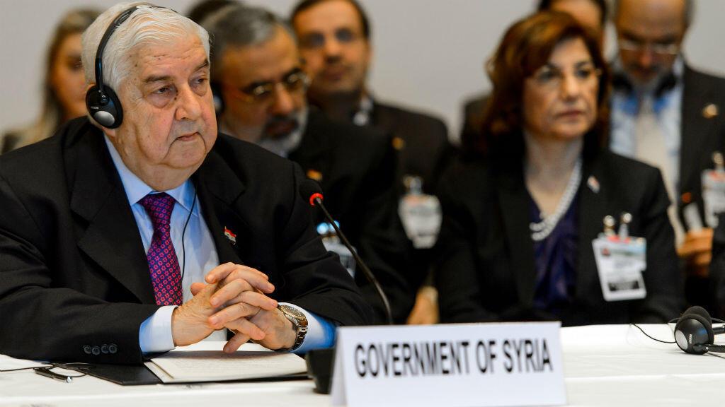 Le chef de la diplomatie syrienne Walid Mouallem
