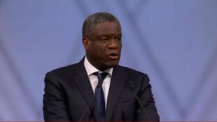 Le co-lauréat du prix Nobel de la paix 2018 Denis Mukwege, le 10 décembre 2018 à Oslo.