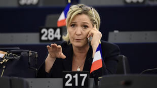 Marine Le Pen au Parlement européen le 17 janvier 2017.