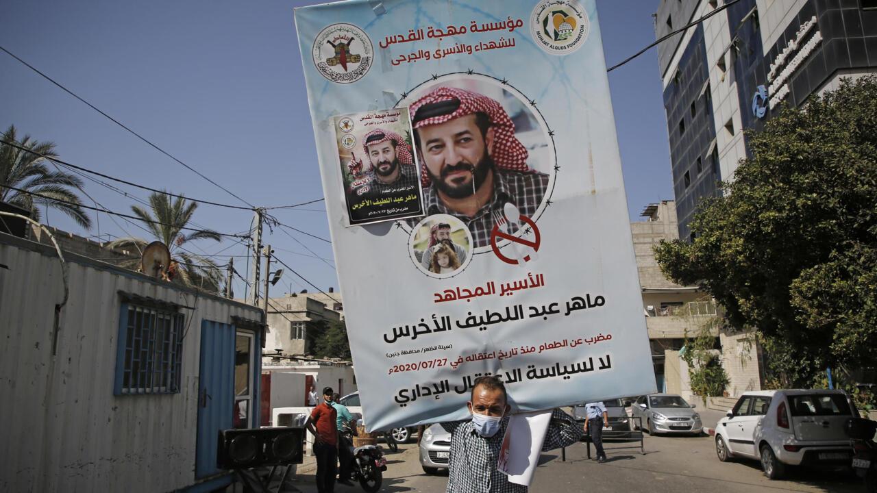 'Frail' Palestinian hunger striker sent to prison from hospital - France 24