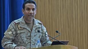 Le porte-parole de la coalition, le colonel Turki al-Maliki, le 16septembre2019 à Riyad, en Arabie saoudite.