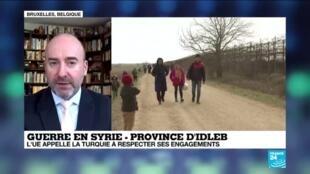2020-02-28 13:05 Guerre en Syrie : Que peut faire l'Union Européenne face à l'afflux de réfugiés en Grèce ?
