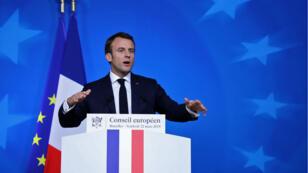 Emmanuel Macron en conférence de presse, après le Conseil européen, vendredi 22 mars 2019.