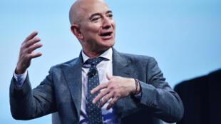 Jeff Bezos habla tras recibir el premio a la excelencia industrial de la Federación Internacional de Astronáutica, el 22 de octubre de 2019 en Washington