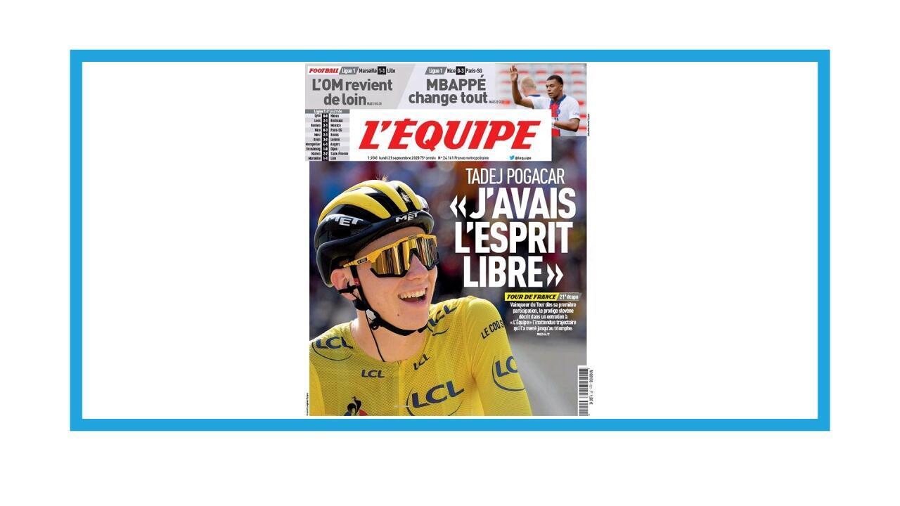 Le Slovène Tadj Pogacar, vainqueur du Tour de France 2020