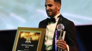 رياض محرز بعد نيله جائزة أفضل لاعب أفريقي لعام 2016