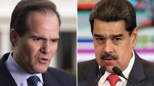 Mauricio Claver-Carone, el encargado de Latinoamérica en la Casa Blanca y el presidente de Venezuela, Nicolás Maduro Moro.