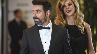 Retired footballer Ezequiel Lavezzi and his model and actress girlfriend Natalia Borges, pictured here in 2017 at the wedding of Argentine great Lionel Messi to Antonella Roccuzzo