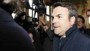 Thomas Thévenoud comparaissant le 19 avril devant le tribunal correctionnel de Paris.