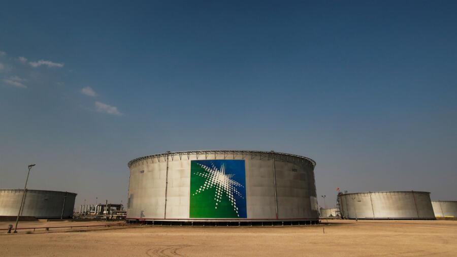 Les réserves de pétrole de Saudi Aramco à Abqaïq