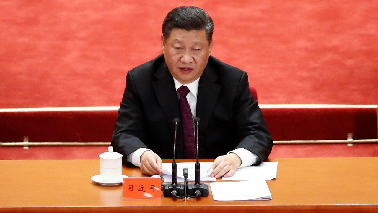 El presidente chino, Xi Jinping, durante un acto para conmemorar el 40 aniversario de la reforma y apertura de China. 18 de dicidiembre de 2018.