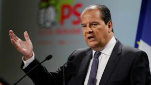 Le premier secrétaire du Parti socialiste, Jean-Christophe Cambadélis, lors de la convention d'investiture le 5 février 2017 à Paris.
