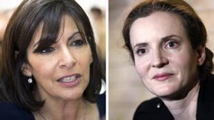 Anne Hidalgo (à g.) et Nathalie Kosciusko-Morizet (à d.)