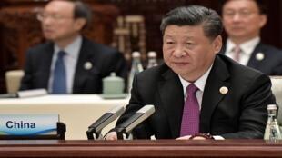 شي جينبينغ يحضر الجلسة الختامية لقمة الحزام والطريق في بكين في 27 أبريل/نيسان 2019