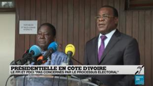 """Côte d'Ivoire : l'opposition appelle au """"boycott actif"""" du scrutin présidentiel"""