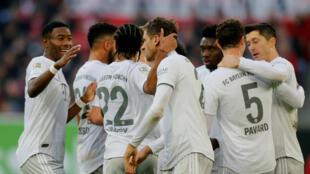 """Les """"Munichois"""" Benjamin Pavard et Corentin Tolisso ont marqué des points avec le Bayern."""
