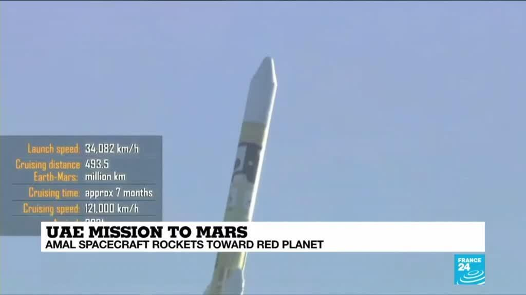 2020-07-20 10:10 Amal spacecraft rockets towards Red Planet