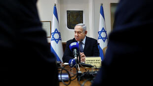 رئيس الوزراء الإسرائيلي بنيامين نتانياهو يترأس اجتماع مجلس الوزراء الأسبوعي في مكتب رئيس الوزراء، القدس، 3 نوفمبر/تشرين الثاني 2019