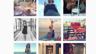 Sur Instagram, Louise Delage est incapable de poser sans un verre d'alcool dans les parages.