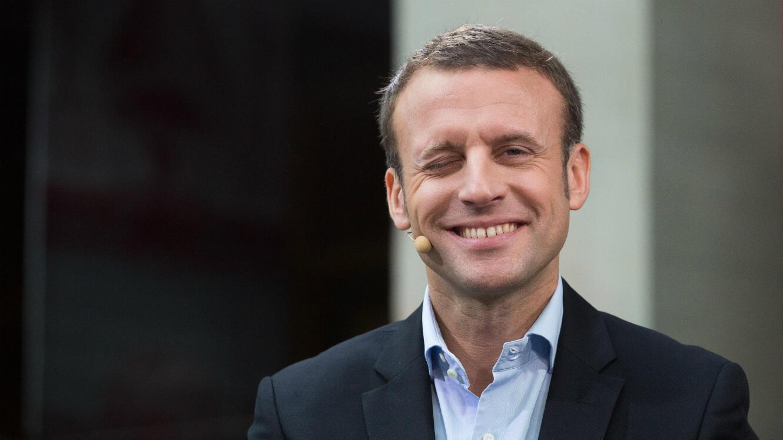 Emmanuel Macron en marge de la conférence tech Hello Tomorrow à Paris, le 14 octobre 2016.