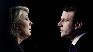 """""""Macron descend d'Hugues Capet et Le Pen de Mahomet"""", titrait l'AFP mercredi."""