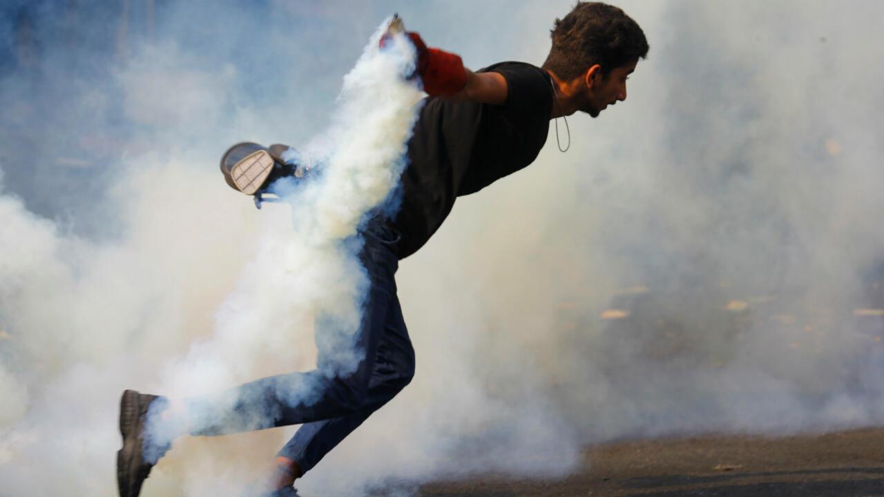متظاهر في بغداد في العراق، 14 نوفمبر/تشرين الثاني 2019.