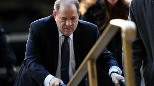 Harvey Weinstein arrives at Manhattan Criminal Court, in February 2020